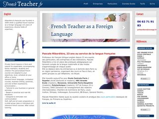 Pascale Ribardière – Paris French Teacher. Professeur de français