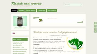 Rhodiola rosea complément alimentaire anti stress